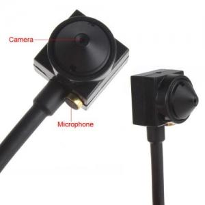PINE600CSCCTV - Cameră Spion CCTV pentru Supraveghere, Pinhole, Sunet, 600 TVL