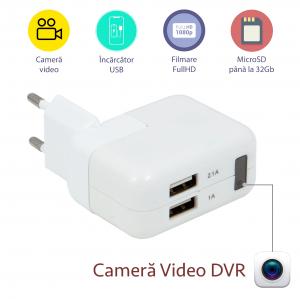Incarcator Telefon-Tableta cu Camera Video Spion, Rezolutie 1080p, Senzor de Miscare, 32GB, Alimentare Permanenta0
