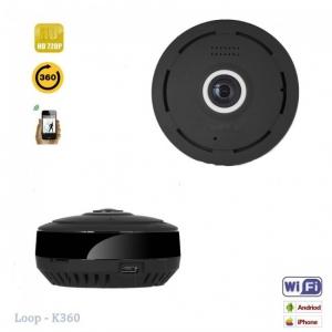 Camera Video Spion WiFi IP, 360 de Grade, Filmare pe Timp de Noapte, Unghi Lentila 180°, Detector de Miscare, 128Gb2