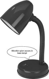 Reportofon Spion Mascat in Lampa de Birou cu Activare Vocala - Memorie 4GB - Stocare 70 de Ore2