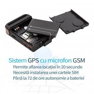 Localizator GPS Tracker cu Microfon GSM Spy Incorporat GT14271