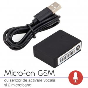 Microfon Gsm Spion cu Activare Vocală  | 30 de Ore de Ascultare Continuă | 30 Zile Autonomie | Microfon cu x-tend | Supraveghere Ambientală |1