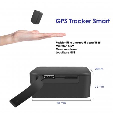Mini GPS Tracker Spy, Autonomie 20 de Zile, Aplicație iOS + Android, Istoric 3 Luni, Model GPS20MINI [2]
