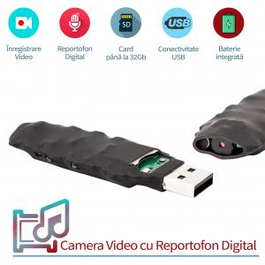 Modul Spy Profesional - Cameră Video cu Autonomie 5 ore și Reportofon 22 de Ore Autonomie, 0,8 mm , 13 Grame1
