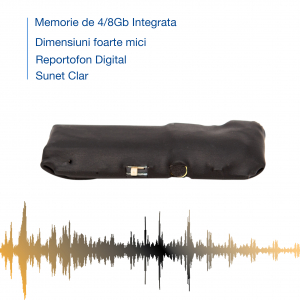Reportofon Spion cu Activare Vocala – cel mai mic , 7 grame – 4 GB - Model Sublimo-4GbVA1