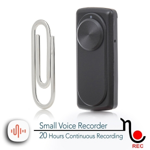 Mini Reportofon 8GB Autonomie 20 de Ore, Înregistrare Continuă și Capacitate de Stocare 90 de Ore - NANOREC0
