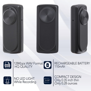 Mini Reportofon 8GB Autonomie 20 de Ore, Înregistrare Continuă și Capacitate de Stocare 90 de Ore - NANOREC2