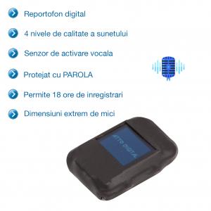 Mini Reportofon Spion Configurabil 8GB | cu Activare Vocala  | 568 de Ore | 1536 Kbps | SAM08 |1
