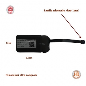 Modul Compact Microcamera Video Spion Integrabila | Doar 8mm | 12 ore Autonomie | 32GB | Senzor de Miscare | Telecomanda0