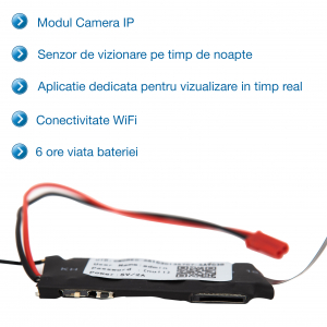 Camera Video IP Spion Wireless Wi-Fi si Night Vision, Vizualizare Online, Model MCIPNV9401