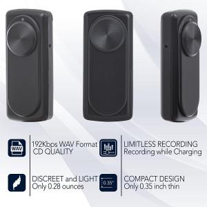 Modul Reportofon 8GB, Activare Vocală, 20 de Ore Autonomie și Capacitate de Stocare 90 de Ore, Model DOTON 9mm Grosime4