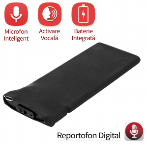 Reportofon Spion cu Activare Vocala, Memorie 8GB, 148 de Ore Stocare, autonomie 18 zile, Model BLACKBOX148AV0