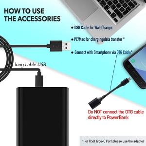 Reportofon Spion Ascuns în PowerBank, Autonomie 380 Ore, Funcție de Activare Vocală, Sunet UltraClear, Memorie 8GB,  Slim PowerREC5