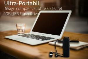 Reportofon Spion Ultra-Profesional Camuflat în Stick USB cu Activare Vocală | 8GB/564 de ore | Clear HD 384kbps/32kbps | Baterie 26 de Ore | Căști Incluse | MAA-V8GB3