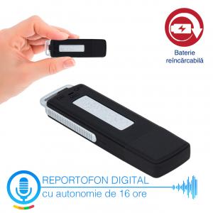 Reportofon Spion Camuflat în Stick de Memorie de 4GB | 70 ore de Înregistrare | 16 Ore Autonomie Baterie |  RMVR4GB1