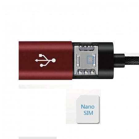 GPS Tracker si Microfon GSM cu activare vocala in Cablu USB pentru Telefon (Android/IOS ) [2]