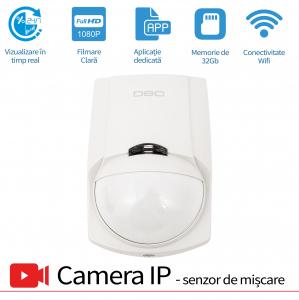 Senzor de Prezenta PIR cu Microcamera Video Spion, WI-FI IP P2P Ascunsa, 32GB ,1080p, Senzor Miscare, SPCSWIIP1210