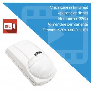 Senzor de Prezenta PIR cu Microcamera Video Spion, WI-FI IP P2P Ascunsa, 32GB ,1080p, Senzor Miscare, SPCSWIIP1211