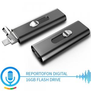 Stick USB de Memorie cu Activare la Voce, 16GB -  Stocare 296 de Ore, 18 Ore Autonomie0