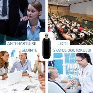 Cameră Video Spion cu Reportofon în Stick USB de Memorie | Autonomie Baterie - 5 Ore în Modul Video | Funcție Reportofon - 26 de Ore | Suportă Micro-SD Card de Maxim 32GB7