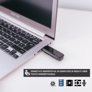 Cameră Video Spion cu Reportofon în Stick USB de Memorie | Autonomie Baterie - 5 Ore în Modul Video | Funcție Reportofon - 26 de Ore | Suportă Micro-SD Card de Maxim 32GB8