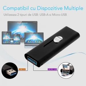 Reportofon Spion cu Activare Vocala Ascuns in Stick USB de Memorie | 4GB - 74 de Ore |  Solutie Optima SR094GB222