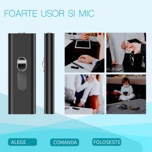 Reportofon Spion cu Activare Vocala Ascuns in Stick USB de Memorie | 4GB - 74 de Ore |  Solutie Optima SR094GB229