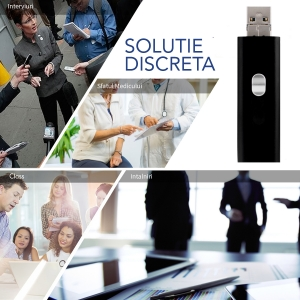 Reportofon Spion cu Activare Vocala Ascuns in Stick USB de Memorie | 4GB - 74 de Ore |  Solutie Optima SR094GB225
