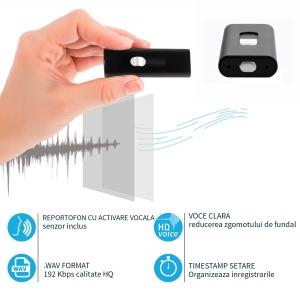 Reportofon Spion cu Activare Vocala Ascuns in Stick USB de Memorie | 4GB - 74 de Ore |  Solutie Optima SR094GB224