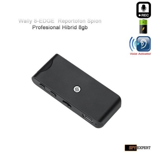 Reportofon Spy Profesional Hibrid cu Activare Vocală + Microfon Extern Wireless SQ7V, Autonomie 32 de Ore, Sunet UltraClear, Memorie 8GB, Model Wally 8-EDGE