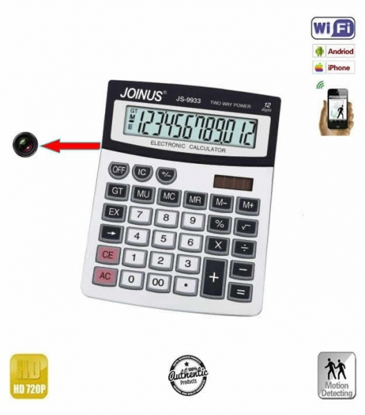 Camera spy wi-fi ip p2p camuflata in calculator de birou , 720p  - Model CBCVDCSWIP22