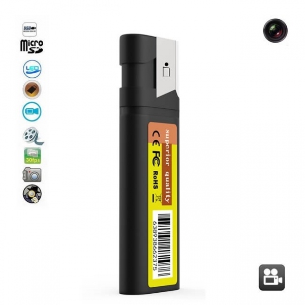 Camera Video pentru Spionaj Camuflata in Bricheta Functionala, 1920x1080p, Conectare Directa USB, Card MicroSD 32GB