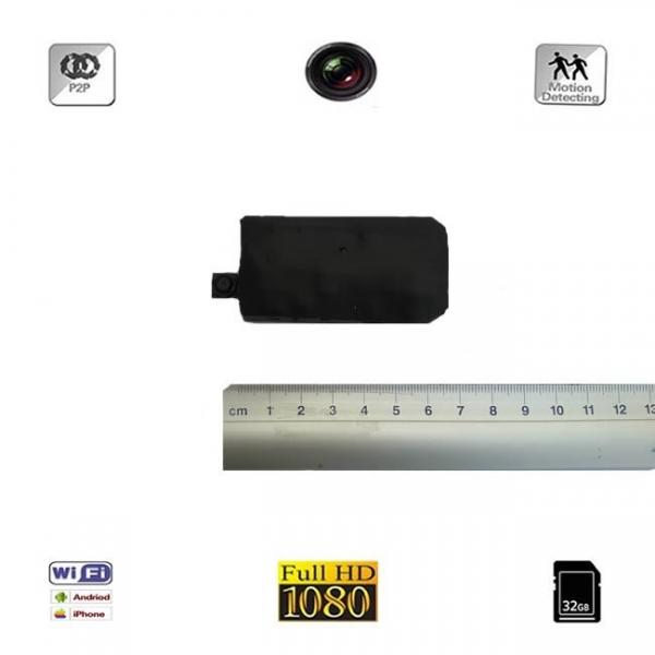 Modul Compact Microcamera Video Spy HD DVR, WI-FI, Usor de Integrat, IP, P2P, 1920x1080p, Model MC1080WI