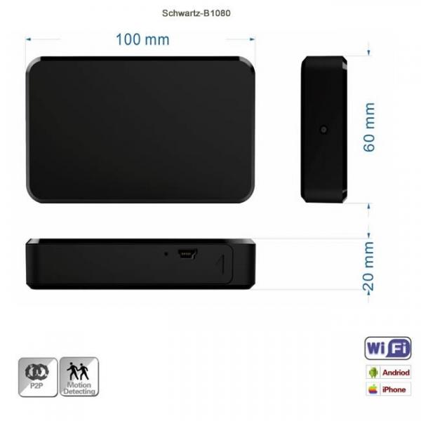Microcamera Video Spy  Wi-Fi Ip + DVR, Detector de Miscare, Autonomie 8 Ore, 32GB