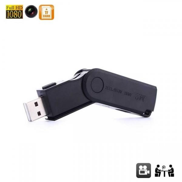 Stick USB de memorie cu camera video spion, rezolutie full hd- model SCS22864GB
