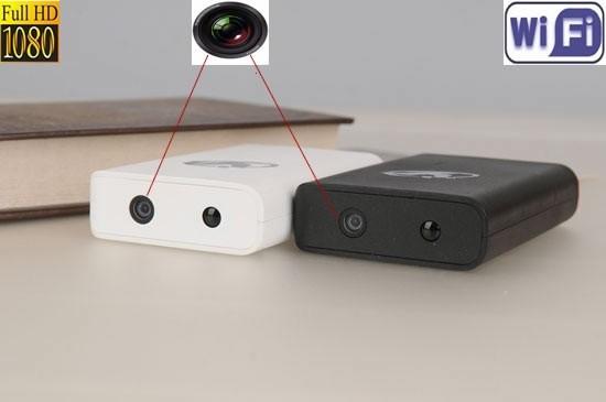 Baterie externa telefon cu minicamera spion mascata HD wi-fi IP , Night Vision ,P2P, 1080p,32 Gb
