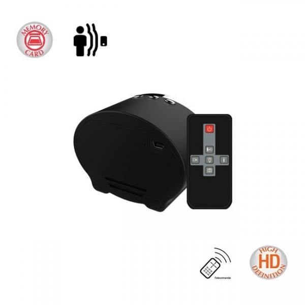Camera Spy 1920x1080p cu Night Vision Ascunsa in Ceas de Birou, Detector de Miscare