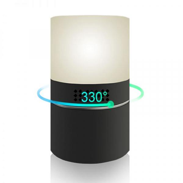 Camera Video Spy Ascunsa in Lampa de Veghe, Rezolutie Full HD, Capacitate Stocare 128GB, Activare la Miscare