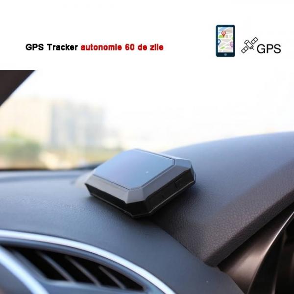 Localizator Profesional GPS Tracker cu autonomie 60 de zile, aplicatie iOS + Android, istoric 3 luni, atasare magnetica, model GPS60MAG