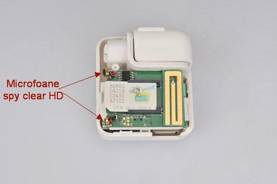 Incarcator pentru  telefon cu microfon spy hibrid integrat GSM, AGPS si reportofon 4795 de ore