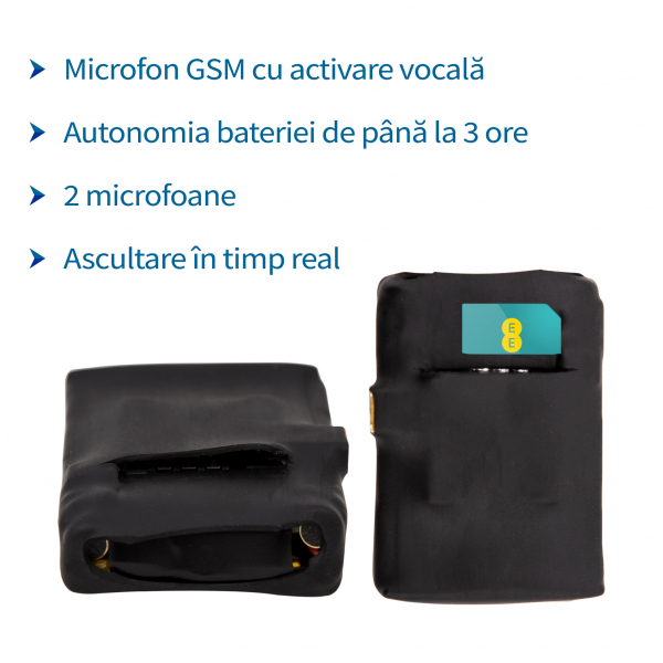 Microfon Gsm cu Detectie Voce - Modul 5mm Spy