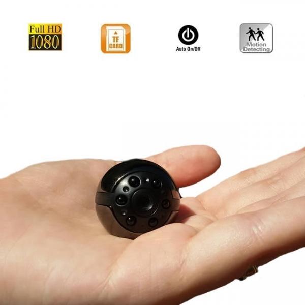 Micro Camera Video Spion 32GB , Nightvision, FULL HD 1080P, Unghi de 360°, Senzor de Miscare