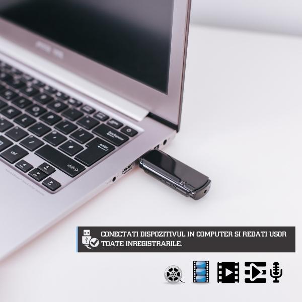2in1 - reportofon si camera integrate in stick USB de memorie