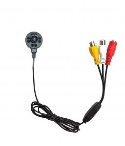 Microcamera spion pentru supraveghere CCTV cu functie de night vision, 940Nm , sunet, 600 TVL