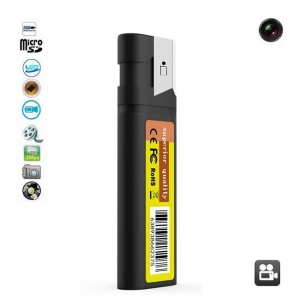 Microcamera video pentru spionaj camuflata in bricheta functionala, 1920x1080p, Conectare Directa USB, card microSD 32Gb