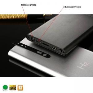 Camera video spy cu nightvision FULL HD mascata in Power Bank