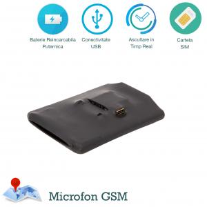 Microfon GSM Spion Profesional cu Autonomie 20 de Zile | Ascultare in Timp Real de pe Telefon | PowerXL20g
