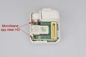 Microfon Spion Hibrid Integrat in Incarcator pentru Telefon - Microfon GSM (Activare Vocala) + Reportofon 4795 de Ore Stocare + Localizare AGPS