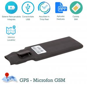 Mini Gps Tracker Profesional, Autonomie 30 Zile, Functie de Microfon Gsm