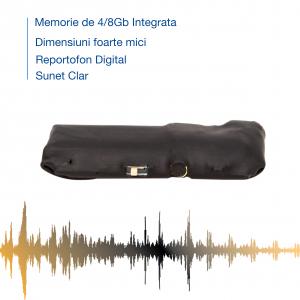 Reportofon Spion cu Activare Vocala – cel mai mic , 7 grame – 4 GB - Model Sublimo-4GbVA